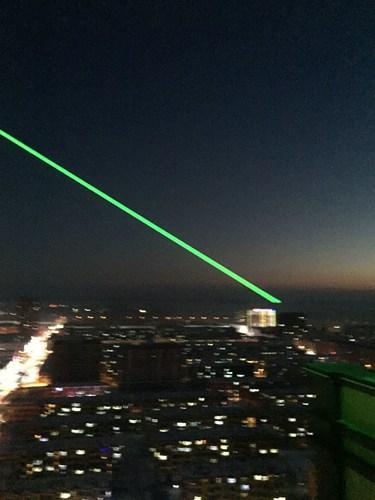 哈尔滨江北中行单绿地标激光