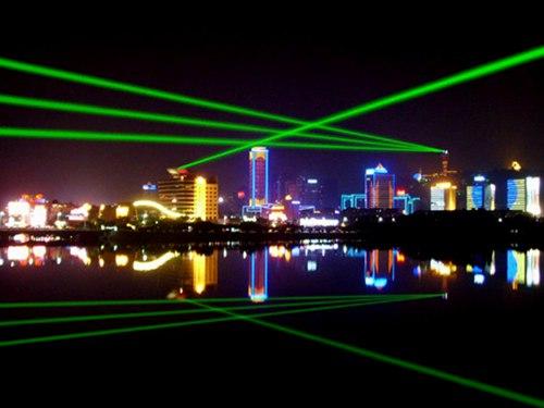上海浦东单绿地标激光