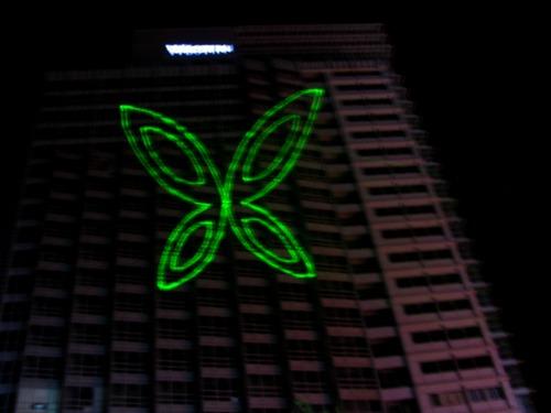 重庆单绿楼体激光
