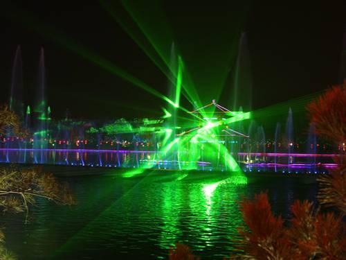 兰州单绿水幕激光