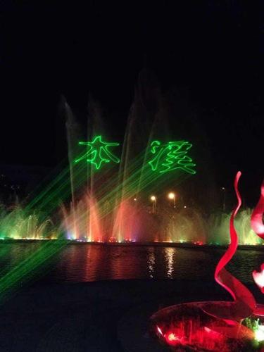 本溪市府广场单绿水幕激光