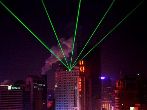 沈阳海悦酒店单绿地标激光